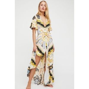 Free People Coco Printed Maxi Dress RARE